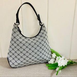 LAUREN RALPH LAUREN Grey & Black Logo Satchel Bag